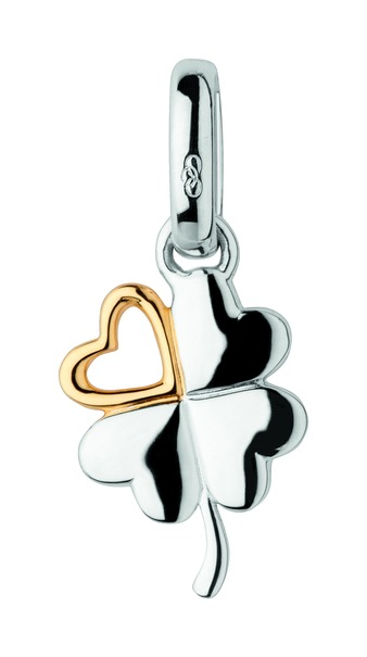 Links of London Sterling Silver & Vermeil Lucky In Love Charm 5030.2284