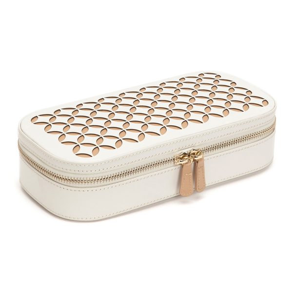 WOLF Chloé Cream Zip Jewellery Case 301253