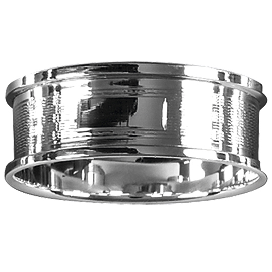 Sterling Silver Engine Turned Engraved Napkin Ring 4082 SIL.4082