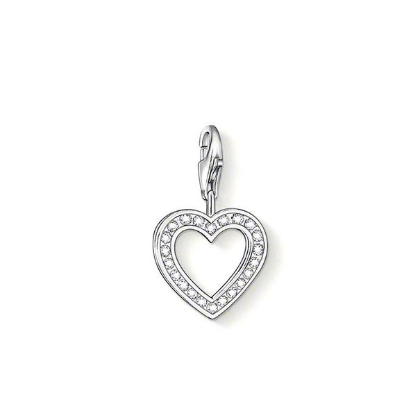 Thomas Sabo Charm Club Sterling Silver & Zirconia Open Heart Charm 0018-051-14