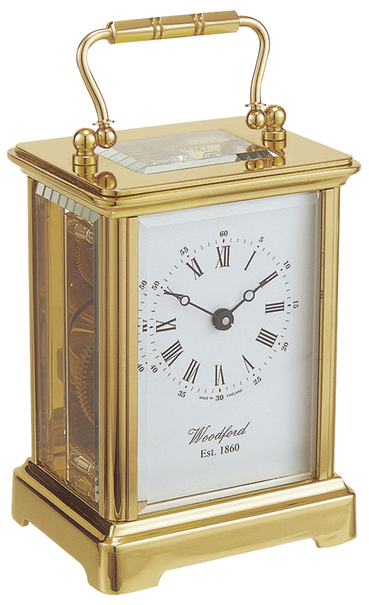 Woodford Solid Brass Mechanical Obis Carriage Clock 1413