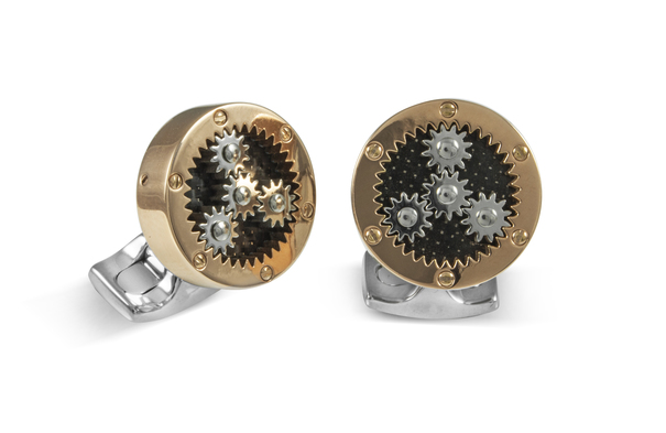 Deakin & Francis Rose Gold Plated Sun & Planet Gear Cufflinks BMC0004C0001