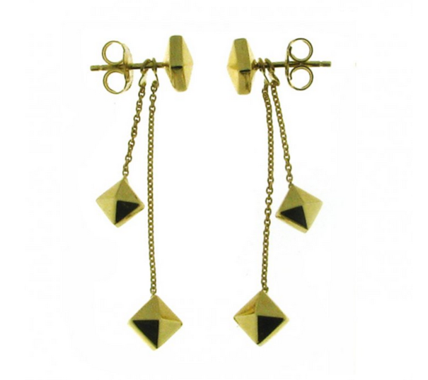 Chimento 18ct Yellow Gold Armillas Pyramis Drop Earrings 1O01451ZZ1000
