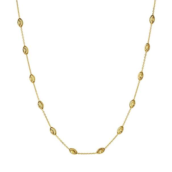 Links of London Vermeil Essentials Beaded Chain Necklace (45cm) 5020.3371