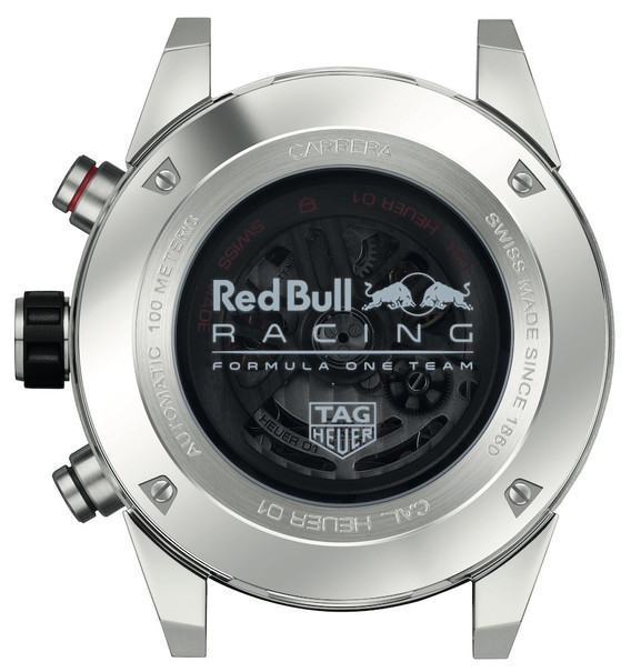 TAG Heuer Carrera Calibre HEUER 01 Red Bull Racing Special Edition Automatic Stainless Steel Mens Chronograph Watch CAR2A1K.BA0703