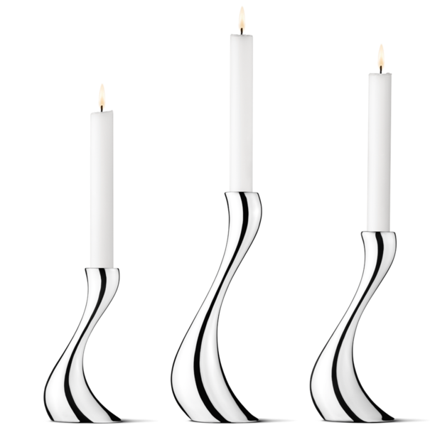 Georg Jensen Living Stainless Steel COBRA Candleholder 3-piece Set 3586624