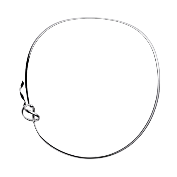 Georg Jensen FORGET-ME-KNOT Sterling Silver Collar Neckring Necklace 3532593