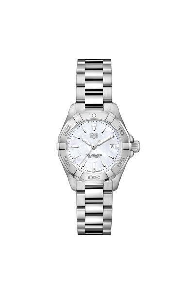 TAG Heuer Aquaracer Mother of Pearl Dial Stainless Steel Womens Quartz 27mm Watch WBD1411.BA0741