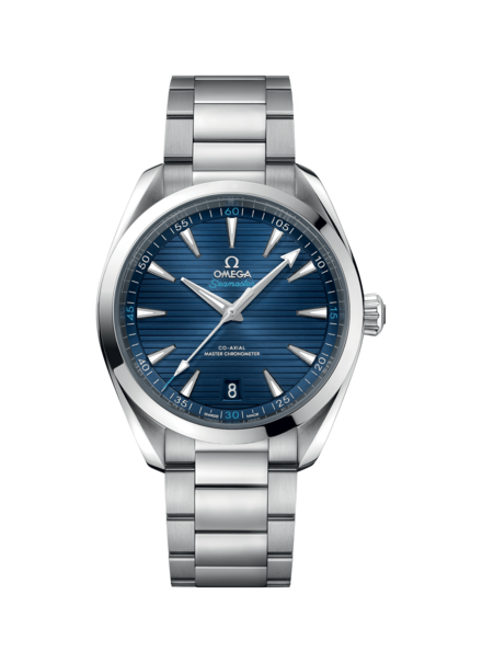Omega Seamaster Aqua Terra 150M Omega Co-Axial Master Chronometer Blue Dial Stainless Steel Mens 41mm Wristwatch 22010412103001