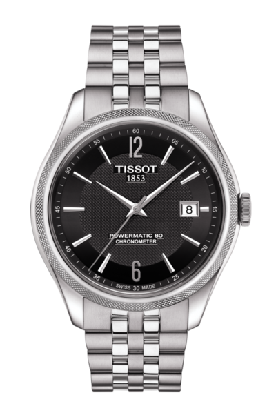 Tissot Ballade Black Dial Stainless Steel Powermatic 80 COSC Chronometer Mens Watch T1084081105700