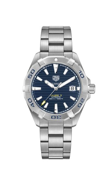 TAG Heuer Aquaracer Blue Dial Calibre 5 Automatic Stainless Steel Mens Watch WBD2112.BA0928