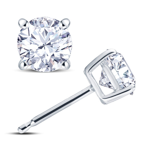 18ct White Gold 4 Claw Set 0.25ct Diamond Stud Earrings