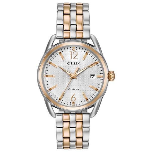 Citizen Eco-Drive LTR Long Term Relationship Silver Dial Two Tone Womens Watch FE6086-74A