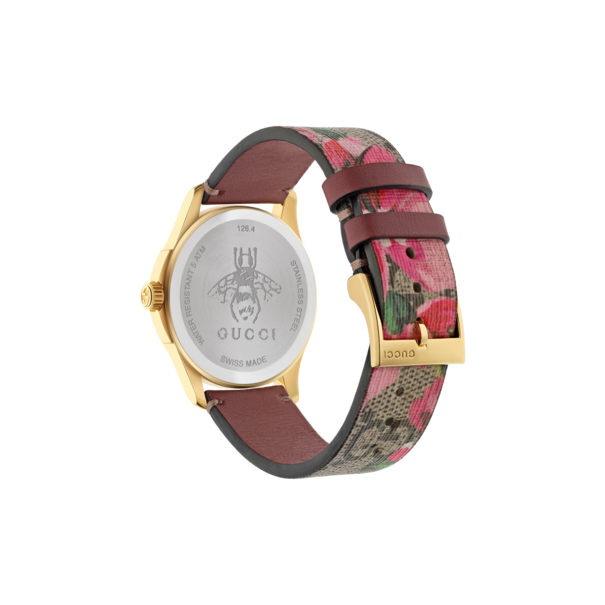 78ec964f63a Gucci G-Timeless Le Marché des Merveilles Garden GG Blooms PVD Gold Plated  Womens Quartz Watch YA1264038