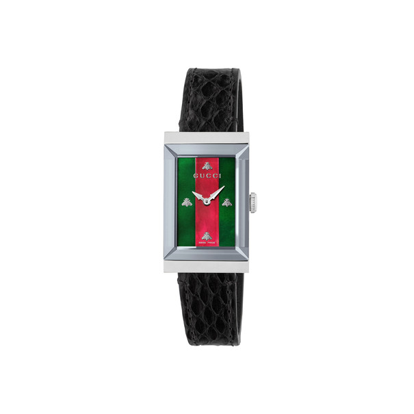 Gucci G-Frame Multi-Colour Mother-of-Pearl Dial Stainless Steel Womens Quartz Watch YA147403