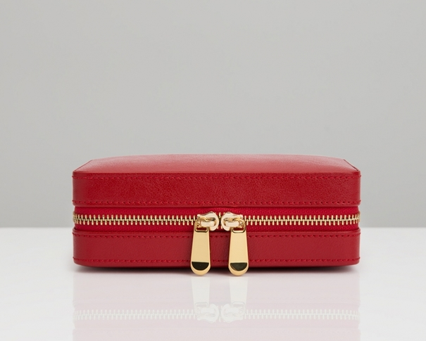 WOLF Palermo Red Travel Zip Jewellery Case 213672