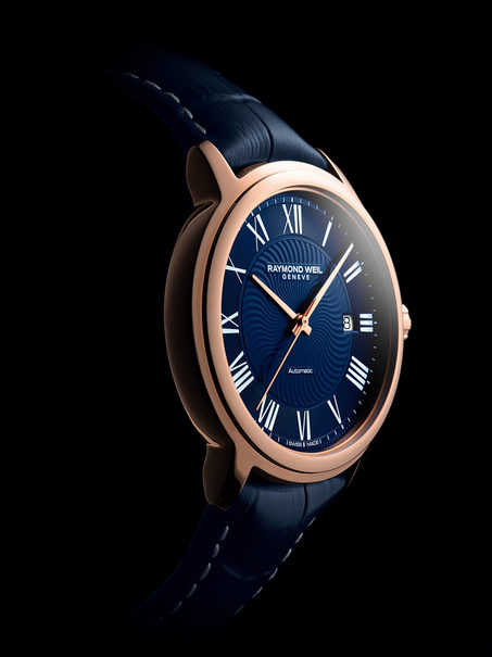 8f0a668e7 Raymond Weil Maestro Blues Blue Dial PVD Rose Gold Plated Mens Watch  2237-PC5-00508