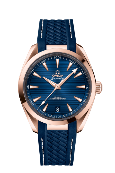 Omega Seamaster Aqua Terra 150M Omega Co-Axial Master Chronometer Blue Dial 18ct Rose Gold Mens 41mm Wristwatch 22052412103001