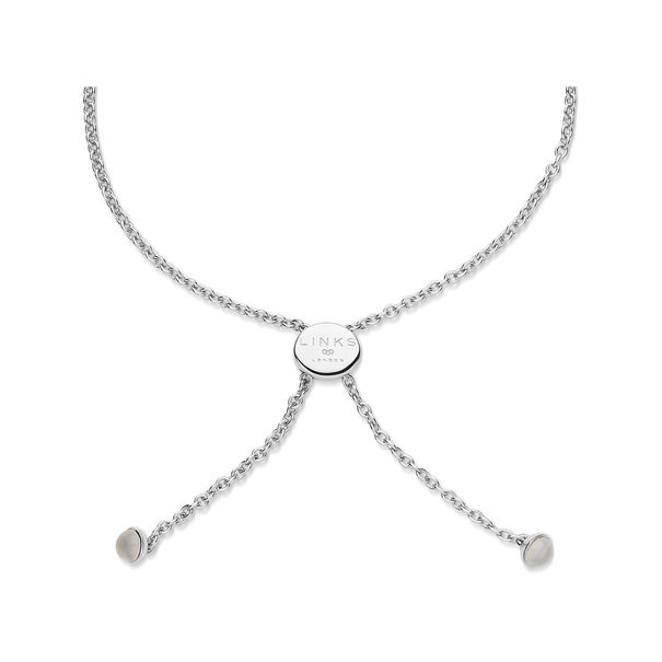 Links of London Sterling Silver & Moonstone Wholehearted Open Heart Toggle Bracelet 5010.4235