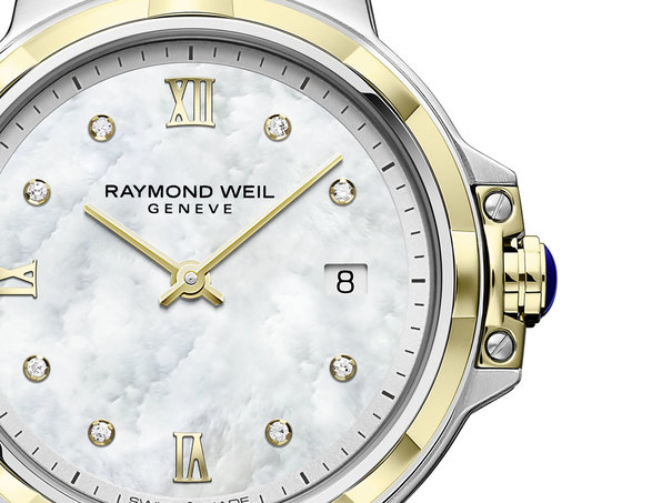 Raymond Weil Parsifal Mother of Pearl Dial Two Tone Womens Quartz Watch 5180-STP-00995