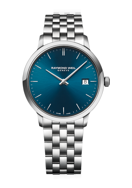 Raymond Weil Toccata Blue Dial Stainless Steel Mens Quartz Watch 39mm 5485-ST-50001