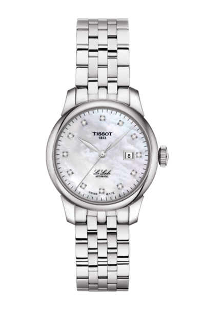Tissot Le Locle Mother of Pearl Diamond Set Dial Stainless Steel Womens Watch T0062071111600