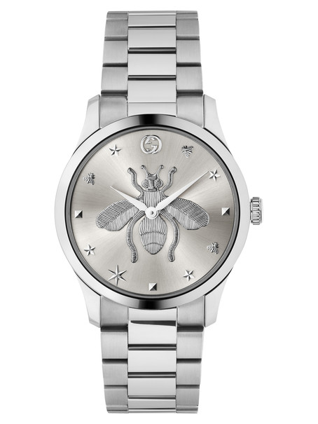 Gucci G-Timeless Iconic Bee Silver Dial Stainless Steel Unisex Quartz Watch YA1264126