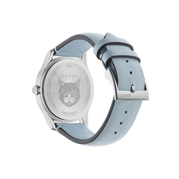 Gucci G-Timeless Contemporary Feline Dial Stainless Steel Unisex Quartz Watch YA1264124
