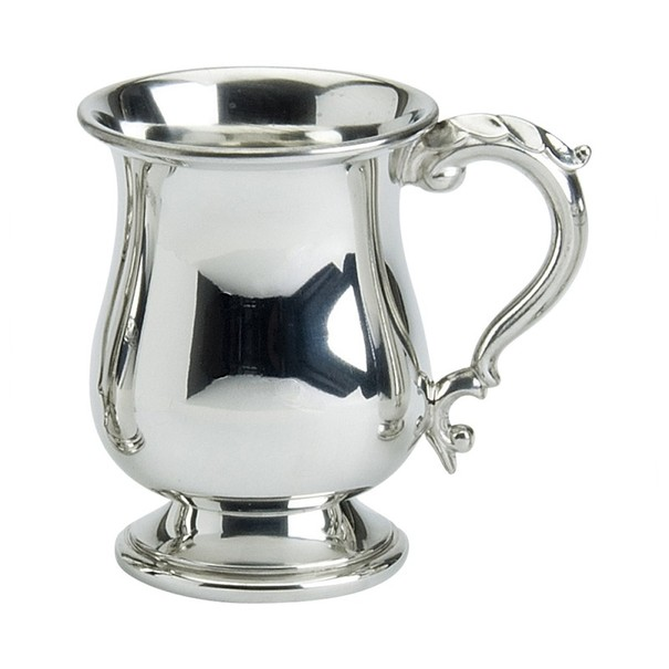 Pewter Plain Georgian Style Pint Tankard 20oz / 568ml