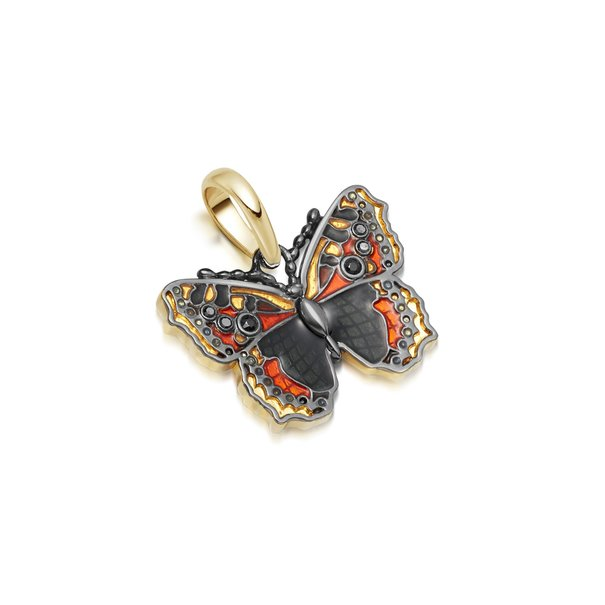 Links of London Vermeil & Enamel Small Tortoiseshell Butterfly Charm 5030.2986