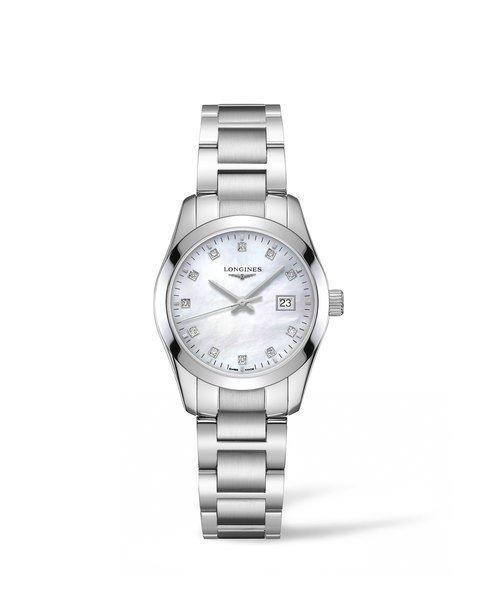 Longines Conquest Classic Mother of Pearl Diamond Set Dial Stainless Steel Womens Quartz Watch L22864876