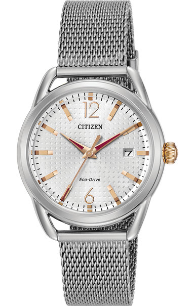 Citizen Eco-Drive DRIVE LTR Silver Dial Stainless Steel Womens Watch FE6081-51A