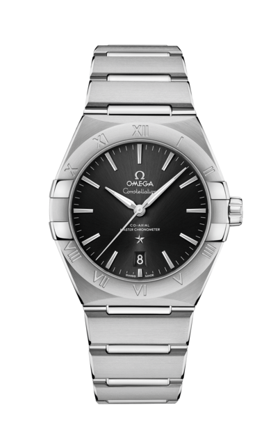 Omega Constellation Black Dial Stainless Steel Omega Co-Axial Master Chronometer Mens Watch 13110392001001