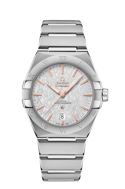 Omega Constellation Grey Dial Stainless Steel Omega Co-Axial Master Chronometer Mens Watch 13110392006001