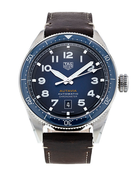 TAG Heuer Autavia Blue Dial Calibre 5 Chronometer Stainless Steel Mens Watch WBE5116.FC8266