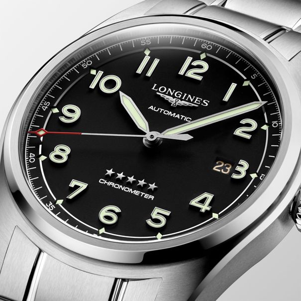 Longines Spirit Black Dial Stainless Steel Mens 42mm Watch L38114536