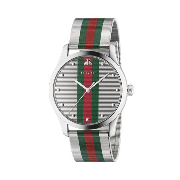 Gucci G-Timeless Multi-Colour Dial Stainless Steel Mens Quartz Watch YA126284