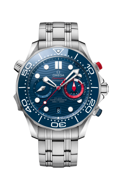 Omega Seamaster Diver 300M Co‑Axial Master Chronometer America's Cup Special Edition Stainless Steel Mens Chronograph Watch 21030445103002