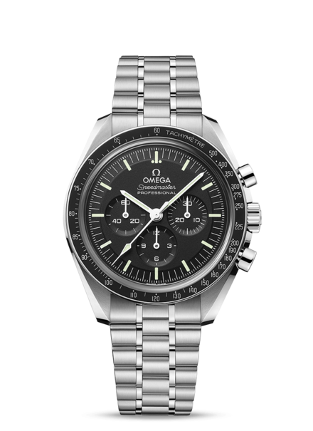 Omega Speedmaster Moonwatch Professional Co‑Axial Master Chronometer Stainless Steel Mens Chronograph Watch (Sapphire Crystal) 31030425001002