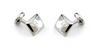Deakin & Francis Sterling Silver & White Mother of Pearl Oblong Cufflinks C0146X0003 Thumbnail