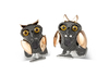 Deakin & Francis Black Rhodium & Rose Gold Plated Moving Owl Cufflinks BMC0008C0001 Thumbnail