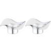 Georg Jensen Living Stainless Steel COBRA Tealight Holders (Pair) 3586582 Thumbnail