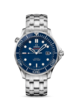 Omega Seamaster Diver 300M Co-Axial Blue Dial Stainless Steel Mens Watch 41mm 21230412003001 Thumbnail