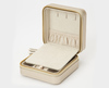 WOLF Caroline Champagne Jewellery Zip Travel Case 329946 Thumbnail