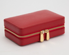 WOLF Palermo Red Travel Zip Jewellery Case 213672 Thumbnail