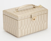 WOLF Caroline Champagne Medium Jewellery Box & Travel Case 329746 Thumbnail