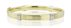9ct Yellow & White Gold Oval Hinged 6mm Bar Design Hinged Bangle Thumbnail