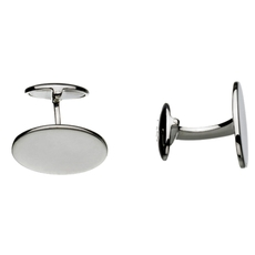 Links of London Sterling Silver Classic Oval T-Bar Cufflinks 2516.0144