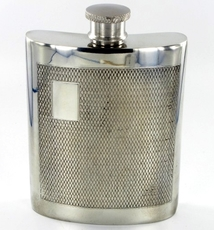 Pewter Engine-Turned Barley Pattern 6 fl oz/170cl Hip Flask