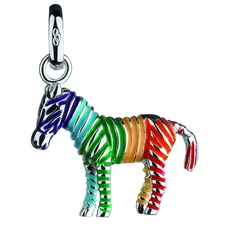 Links of London Sterling Silver & Enamel Rainbow Zebra Charm 5030.1418